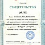 Sevastopol Prodigy certificate